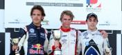 Race 3 Podium, Vergne, Webb and Dias
