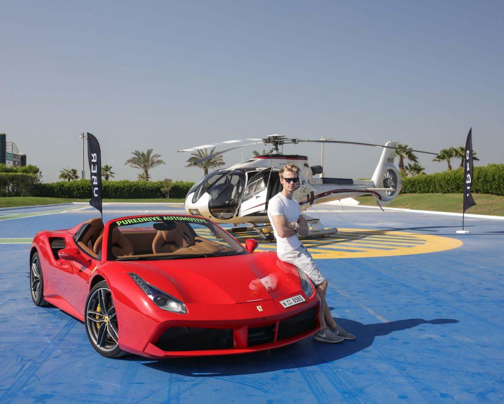 Uber Chopper Ras al-Khaimah Ferrari 488 Spider